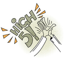 Illustrated High-Five Image